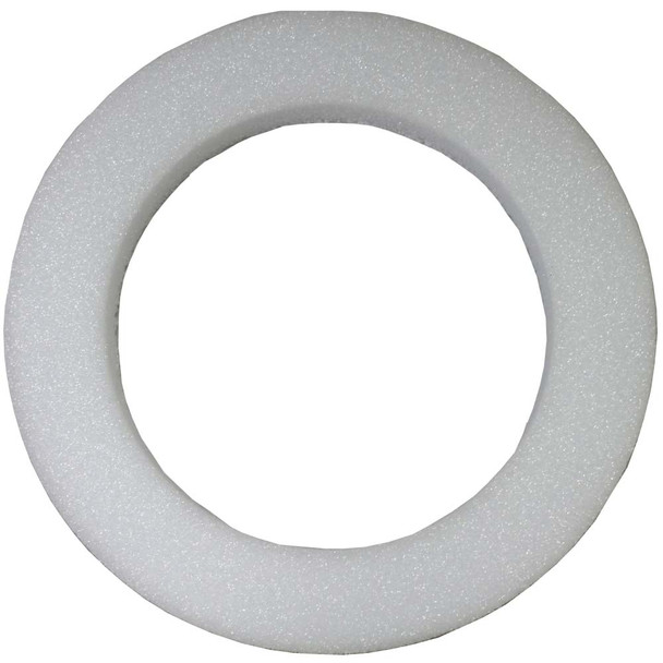 "12"" x 2"" White Styrofoam Wreath"