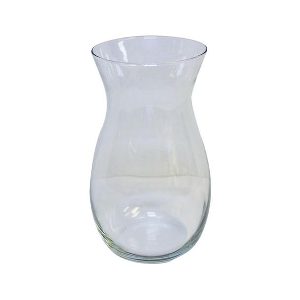 "10.5""H Clear Jordan Glass Vase"