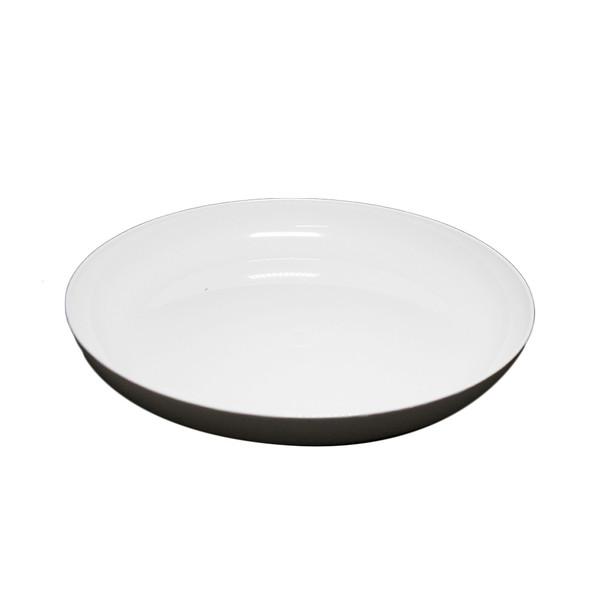 """11"""" White Lomey Designer Dish"""