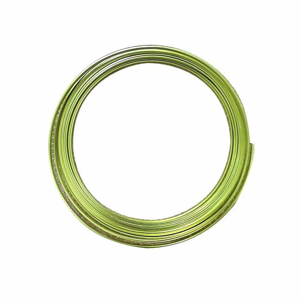 5 MM Gauge Green Flat Decorative Wire 32.8 Ft