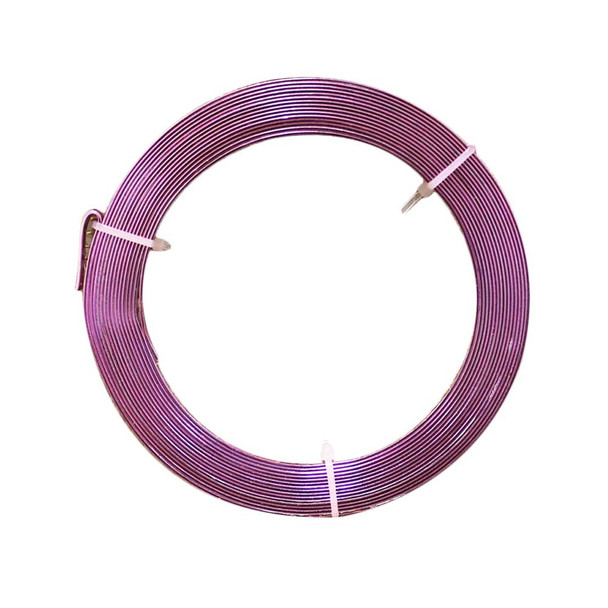 5mm Gauge Pink Flat Decorative Wire 32.8 Ft