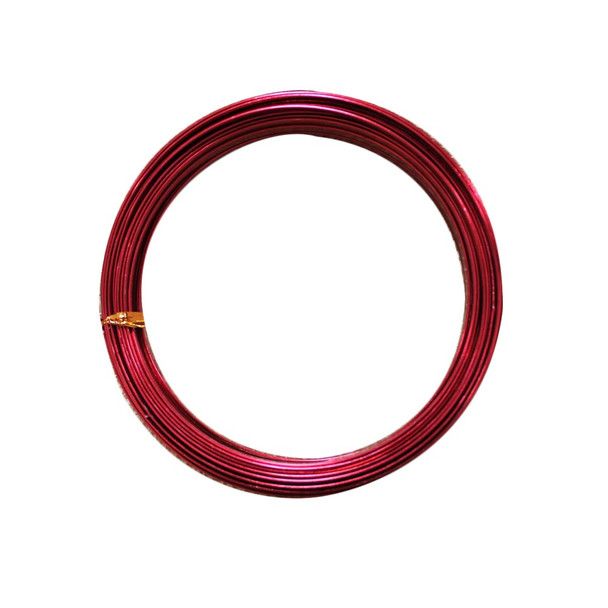 5 MM Gauge Red Flat Decorative Wire 32.8 Ft