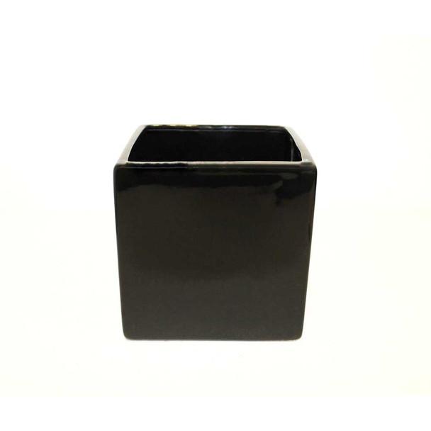"""5""""  Black Ceramic Cube"""