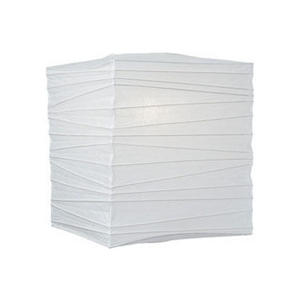 "12"" White Square Paper Lantern"