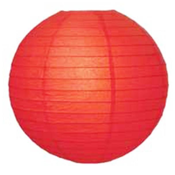 """14"""" Red Round Paper Lantern"""