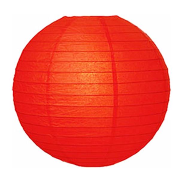 """10"""" Red Round Paper Lantern"""