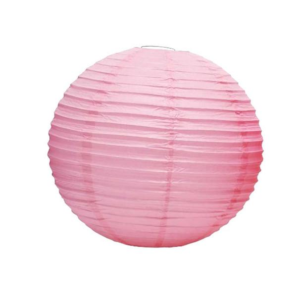 "20"" Pink Round Paper Lantern"