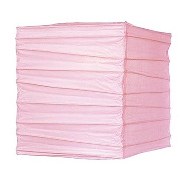 """12"""" Pink Square Paper Lantern"""