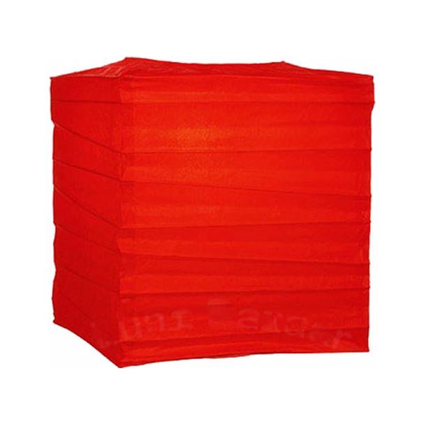 "12"" Red Square Paper Lantern"