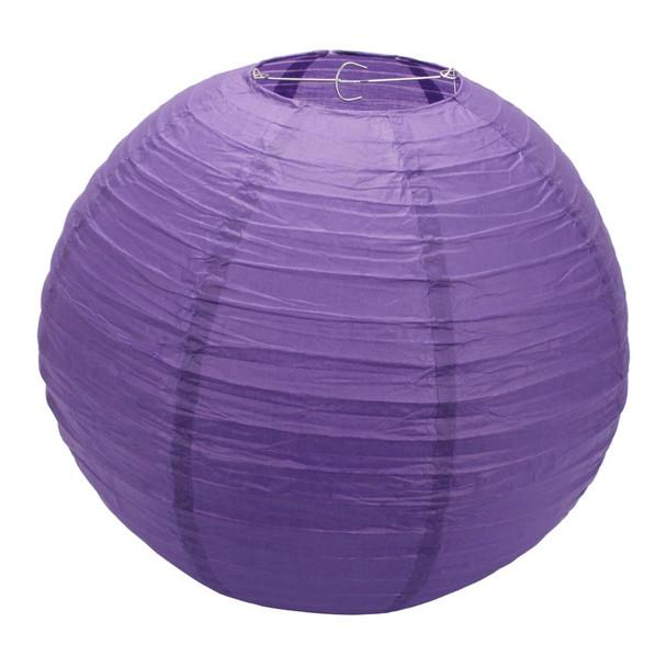 """20"""" Purple Round Paper Lantern"""