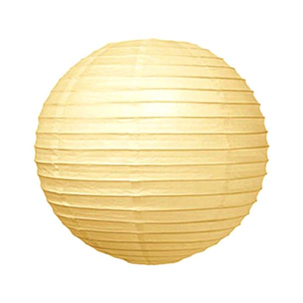 """8"""" Ivory Round Paper Lantern"""