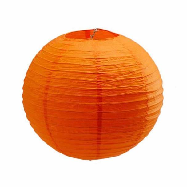 """20"""" Orange Round Paper Lantern"""