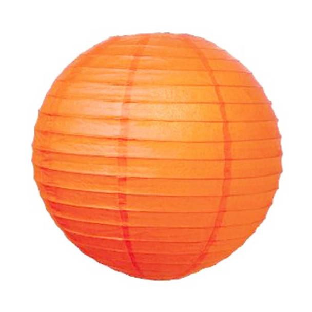 """8"""" Orange Round Paper Lantern"""