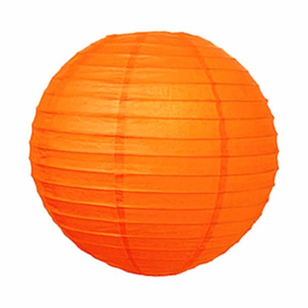 """10"""" Orange Round Paper Lantern"""