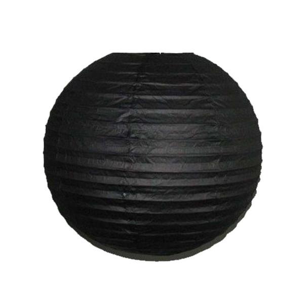 """8"""" Round Black Paper Lantern"""