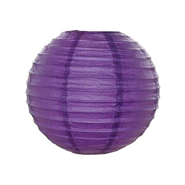 """12"""" Purple Round Paper Lantern"""