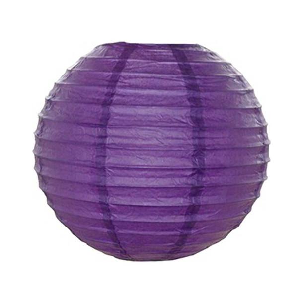"""8"""" Purple Round Paper Lantern"""