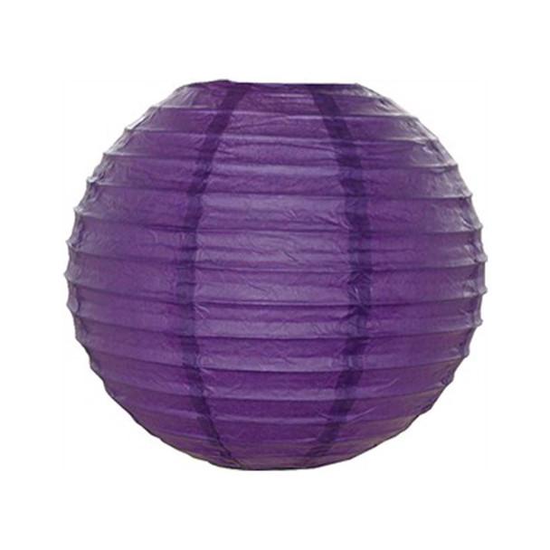 """18"""" Purple Round Paper Lantern"""