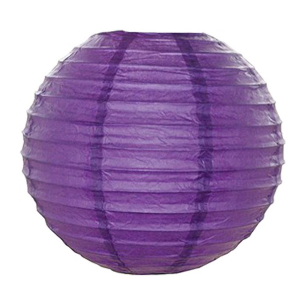 """14"""" Purple Round Paper Lantern"""
