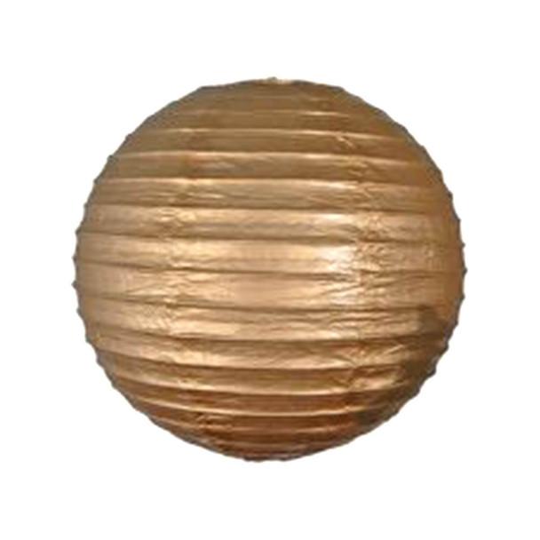 "10"" Gold Paper Lantern"