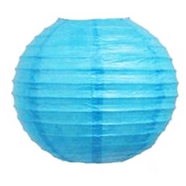 "10"" Turquoise Round Paper Lantern"