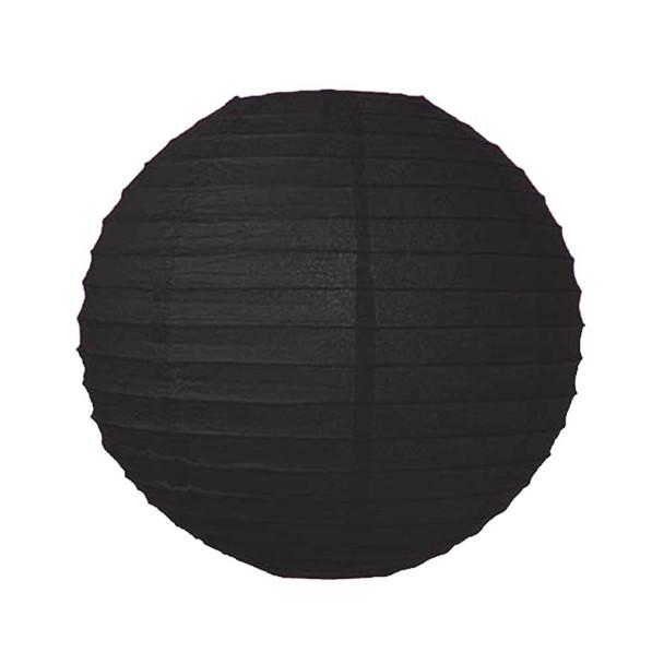 """16""""  Black Round Paper Lantern"""