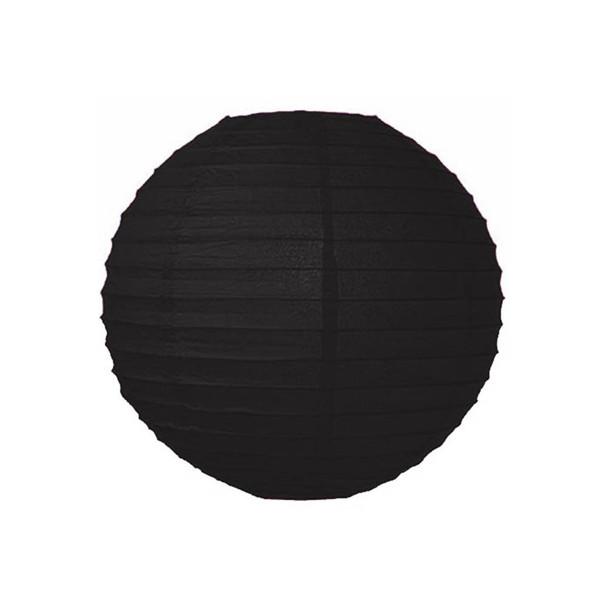 """14""""  Black Round Paper Lantern"""