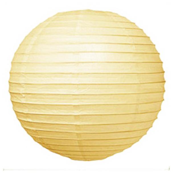 """12"""" Ivory Round Paper Lantern"""