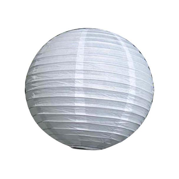 "8""  White Round Paper Lantern"