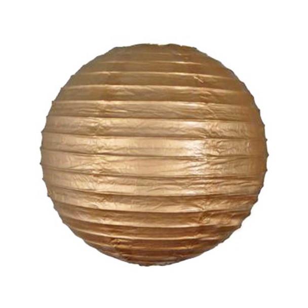 """12"""" Gold  Round Paper Lantern"""