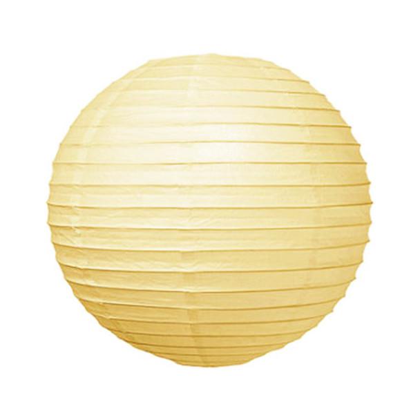 """10"""" Ivory Round Paper Lantern"""