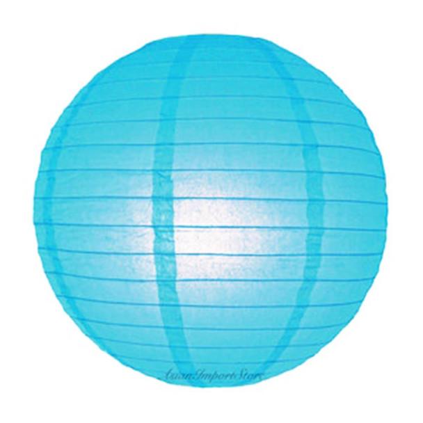 "16"" Turquoise Round Paper Lantern"