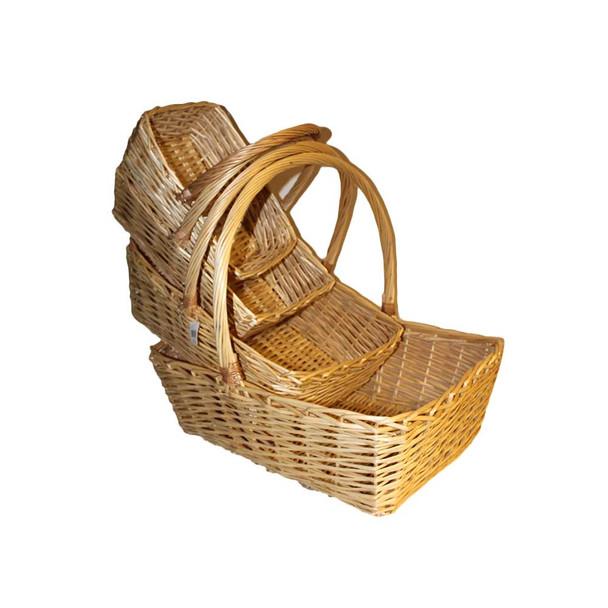 "23.5"" Natural Rectangular Basket Set of 4"