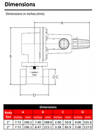 RG20 Regulator Dimensions