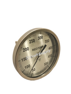 "Temperature Gauge, 50-500°F, 5"" Face, Back Mount 1/2"" NPT"