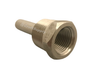 REOTEMP Threaded Thermowells make it possible to remove an instrument without dropping pressure or losing contents of the process
