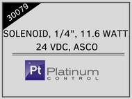 """SOLENOID, 1/4"""", 11.6 WATT, 24 VDC, ASCO"""