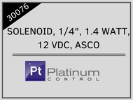 """SOLENOID, 1/4"""", 1.4 WATT, 12 VDC, ASCO"""