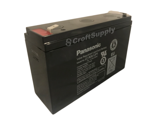 The Pansonic LC-R0612P is a replacement battery for the PCS 2000 Controller.