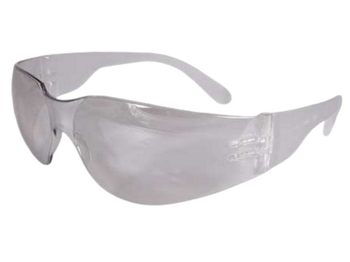 Intruder Safety Glasses Clear Frame & Clear Scratch-Resistant Lens