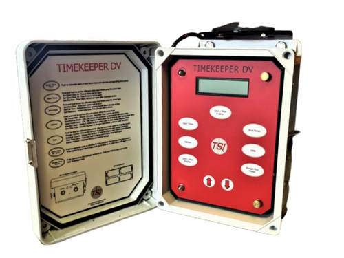 TSI Time Keeper DV has six time periods (open-A, open-B, Shut, Afterflow, Fall and Recovery)