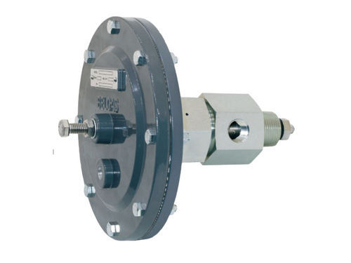 The BelGAS P7400 series is a pneumatically controlled high-pressure valve designed for fluid level control.