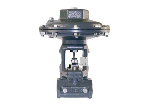 The BelGAS P7200 series valve is a pneumatically open yoke control valve designed to control a variety of fluids.
