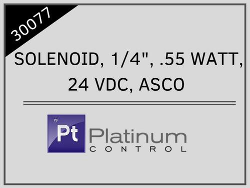 """SOLENOID, 1/4"""", .55 WATT, 24 VDC, ASCO"""