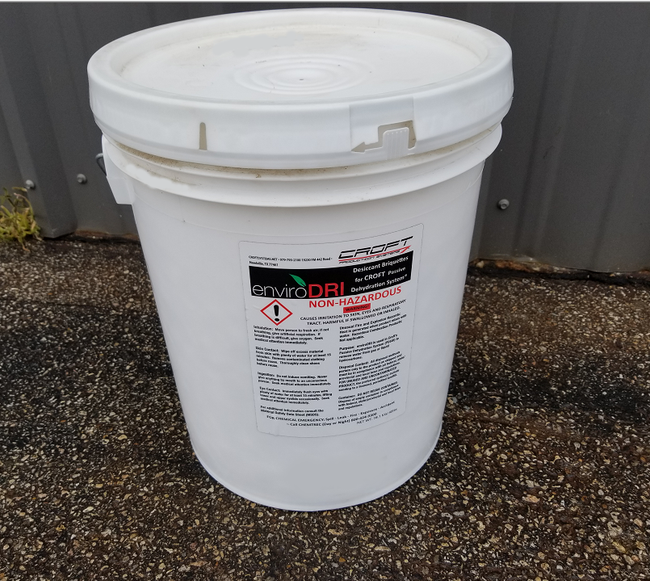 enviroDRI 40lb bucket, natural gas desiccant