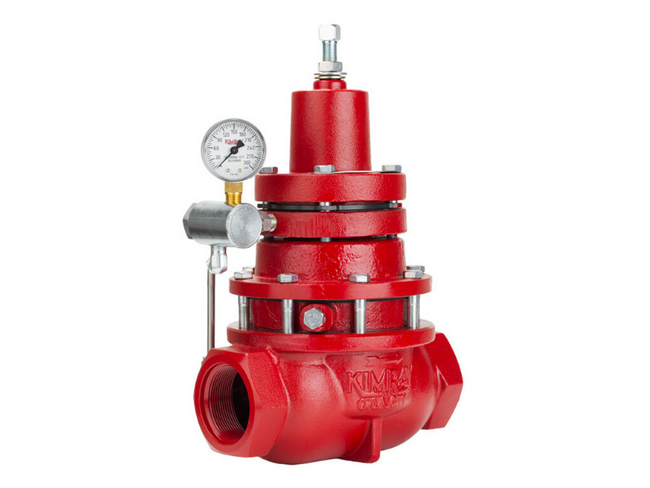The Kimray Back Pressure valve controls pressure upstream of the valve by adjusting the set point to the desired max upstream pressure.
