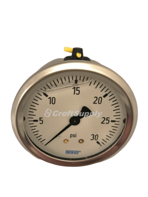 The WIKA Bourdon tube pressure gauges are intended for adverse service conditions where pulsating or vibration exists.