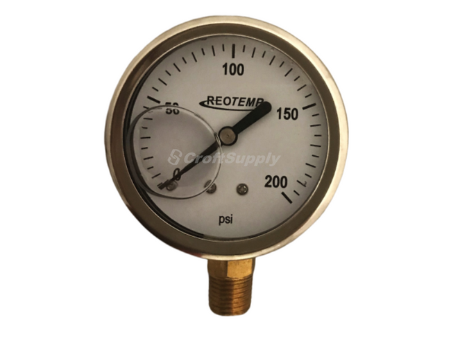 Series PG liquid-filled temperature gauges are an economical choice where ambient corrosion and vibration are of concern. The stainless steel case and ring offer excellent corrosion resistance, and is fillable for applications with vibration. It is suitable for all fluids compatible with copper alloys.