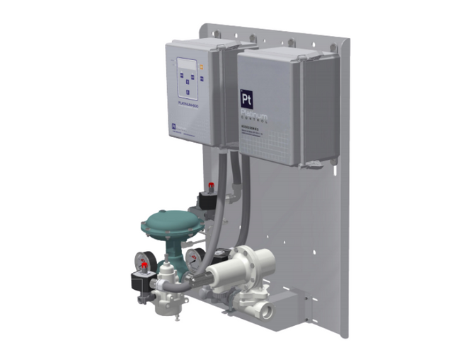 A new slimmed down version of Platinum Control's Quick Connect Unit, the Compact QCU comes standard with a Platinum BMS unit, fuel train and mount.