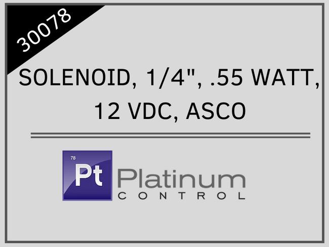 """SOLENOID, 1/4"""", .55 WATT, 12 VDC, ASCO"""